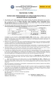 bid for invitation to bid for the repair and improvement of structure