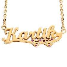 Gold Personalized Name Necklaces Gold Personalized Name Necklace At Rs 5995 Piece S