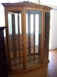 thomasville glass kitchen cabinets thomasville 3 bay solid oak curio cabinet