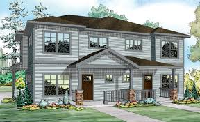 fourplex house plans house front color elevation view for d 341 duplex house plans