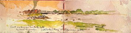 count six trees ink watercolor sketchbook chris carter artist