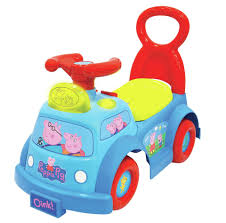 toddler toy car peppa pig lights and sounds ride on walmart com