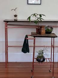 Copper Projects Easy Copper Pipe And Reclaimed Wood Table Wood Table Bar Carts