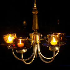 Candle Lit Chandelier The B Farm Candle Chandelier With Glass Teacups