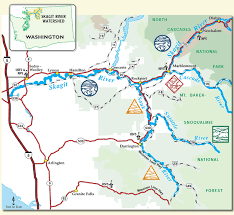 world river systems map mt baker snoqualmie national forest resource management