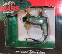 vintage at sears drill ornament 1995