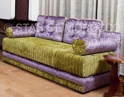 moroccan purple green velvet living room