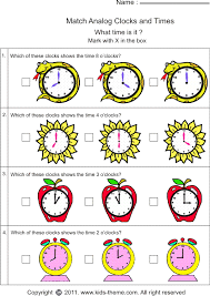 clock worksheets for kindergarten worksheets