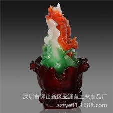 shenzhen factory wholesale imitation jade crafts resin ornaments