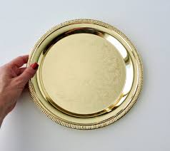 engraved serving tray vintage gold tray by davco silver engraved serving tray