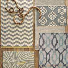 Ikat Runner Rug Ikat Links Wool Rug Frost Gray West Elm