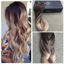 ombre clip in hair extensions european balayage ombre clip in remy human hair extensions brown