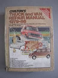 amazon com 1979 1986 chilton u0027s truck and van repair manual