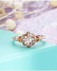 gold vintage engagement rings deals on morganite ring unique vintage engagement ring gold