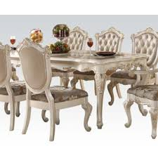 chantelle rectangular dining table with marble