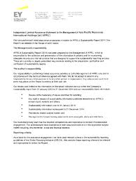 sustainability report 7 1 ernst u0026 young assurance letter