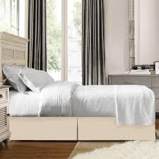 Bed Frame Skirt Clara Clark Solid Bed Skirt Dust Ruffle Cozy Array