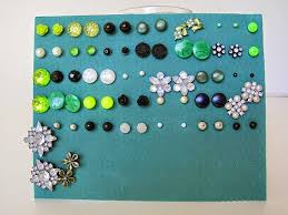 how to make an earring holder for studs easy earring storage ideas greenie dresses for less