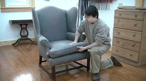 Couch Upholstery Cost Reupholster A Wing Chair Pt 1 Evaluation Youtube