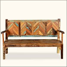 Rustic Wooden Bench Rustic Wooden Bench With Chevron Back And Arms Of 19 Extraordinary