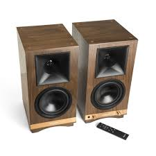 Discount Bookshelf Speakers The Sixes Powered Bookshelf Speakers Klipsch