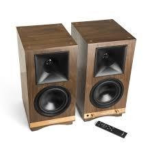 top audio brands home theater the sixes powered bookshelf speakers klipsch