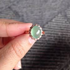 gold jade ring delicate ring made with 14k gold filled ring and