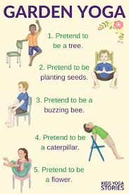 Chair Yoga Poses 5 Garden Yoga Poses For Kids Using A Chair Kids Yoga Stories