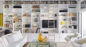 Built In Shelves Living Room Living Room Bookshelf Railing Living Room Modern With High