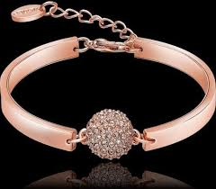 swarovski gold plated bracelet images Swarovski elements 18k rose gold plated lady diamond bangle jpg
