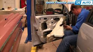 how to install replace front power window regulator ford focus 00