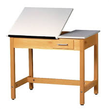 Small Drafting Table Shain Split Top Drafting Table W Small Drawer 30 H Dt 2sa30