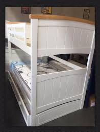 Bunk Bed With Trundle Bunk Bed King Single With King Single Trundle Bed Solid New