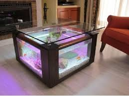 Neon Lights Home Decor Coffee Table Engaging Square Coffee Table Aquarium With Puple Neon