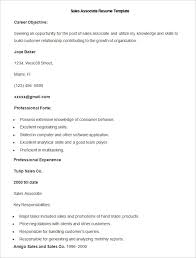 Resume Examples For Sales Associates by Sample Sales Associate Resume Sales Associate Resume Sample