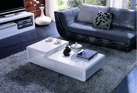 Contemporary White Coffee Table by Beguile Design Modern High Gloss White Coffee Table With Black