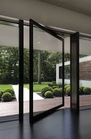 Entry Door Designs Modern Glass Exterior Doors New Canaan Residence Pivot Front Entry