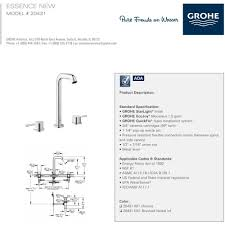 grohe 20431001 essence polished chrome two handle widespread