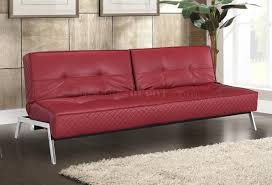 enchanting red leather sleeper sofa catchy modern furniture ideas
