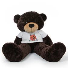 Halloween Tee Shirt by Brownie Cuddles Halloween Giant Teddy Bear With Happy Halloween T