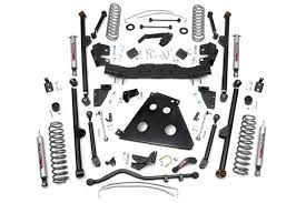 jeep lift kit box 6in long arm suspension lift kit for 2012 2017 jeep jk wrangler