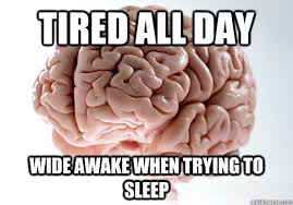Scumbag Brain Meme - tired all day wide awake when trying to sleep scumbag brain