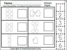 free mitten number matching 0 5 fun winter math activity