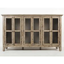 accent cabinets with doors weathered grey 6 door accent cabinet bernie phyl s furniture
