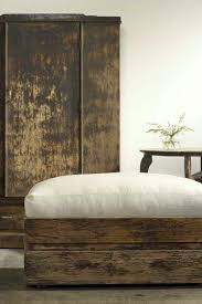Wood Ottomans Rustic Furniture Zsazsa Bellagio Rustic Pinterest