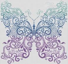 artecy cross stitch the purple blue green butterfly cross stitch