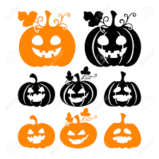 scary halloween white background set of scary halloween pumpkin silhouettes isolated on white