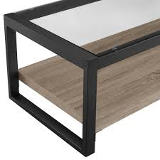 Driftwood Sofa Table by Urban Blend 48 Inch Coffee Table With Glass Top Driftwood Black