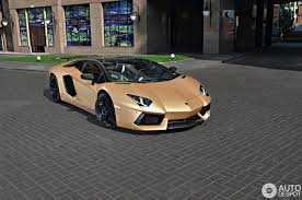 golden lamborghini the golden aventador