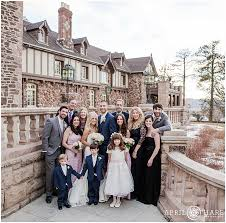 Floor And Decor Highlands Ranch Groom U0027s Family Poses Together On The Stairs Outside Of The
